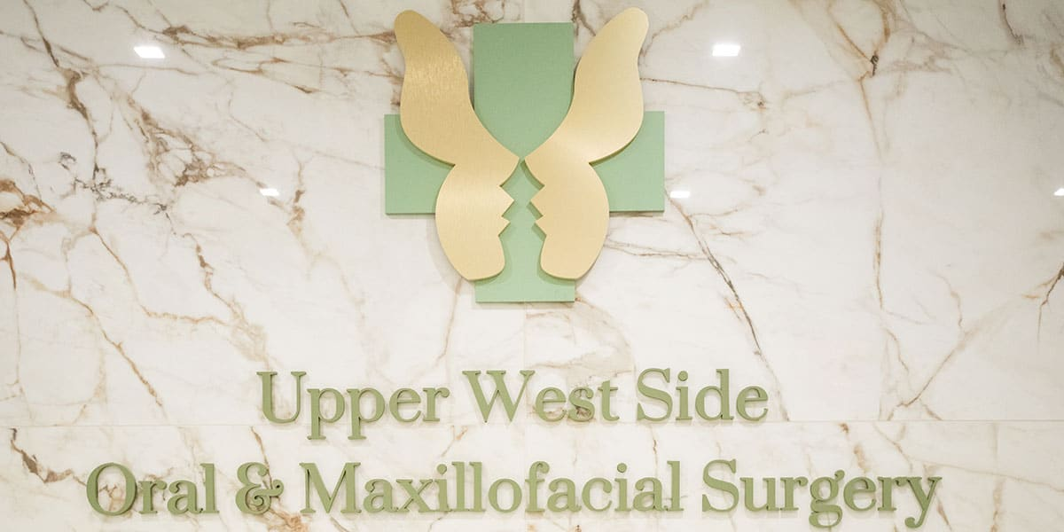 Sign on Wall for Upper West Side Oral & Maxillofacial Surgery